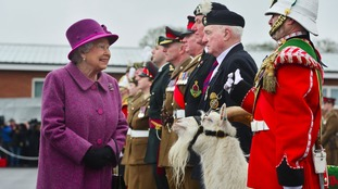 Queen meets new mascot Llywelyn at St David's Day parade