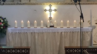 Candles were lit for the 11 victims at St Mary de Haura Church in Shoreham on the first anniversary of the 2015 disaster.