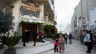 Banksy opens new 'hotel with the worst views in the world' on the West Bank