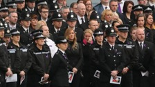 Hundreds turned out for the funeral of the popular officer