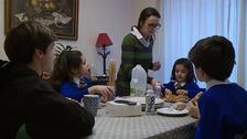 Susana Forte Vaz and her children.