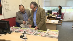 Joao Noronha, editor of a Portuguese newspaper in Thetford.