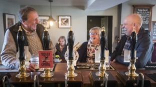 Regulars toast the good news there pub is the best in Britain