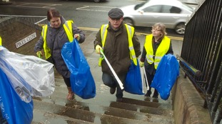 Volunteers have taken to the street of Luton to clear up litter.