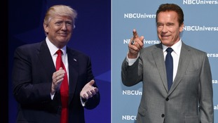 Schwarzenegger and Trump have traded barbs on Twitter
