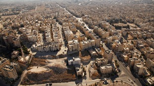 Aerial view of Amman, Jordan