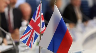 UK and Russia flags