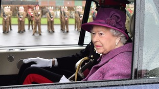 The Queen during a trip to Lucknow Barracks in Tidworth, Wiltshire
