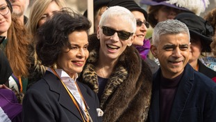 Annie Lennox with Bianca Jagger and London Mayor Sadiq Khan