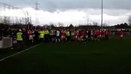 Didcot Town match abandoned after pitch invasion
