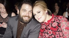 Adele with partner Simon Konecki in 2013
