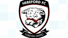 The match between Hereford FC and Didcot Town had to be abandoned due to crowd trouble.