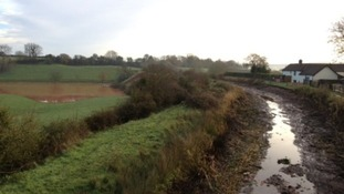 The empty Grand Western Canal