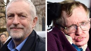 Corbyn and Hawking