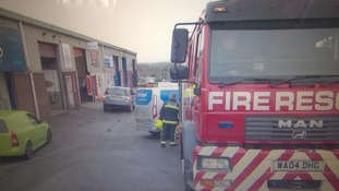 Fire on industrial estate in Torquay