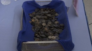 Vets were shocked to find 915 coins in Bank's stomach