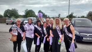 Women across the region join pension protest
