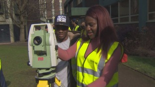Female student hoping to change the face of male-dominated construction industry