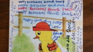Birthday card traded between father and daughter for 33 years 'lost in post'