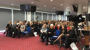 Hundreds gather at Wetherby Racecourse for International Women's Day
