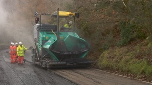 Steepest A road in England needs German machine to resurface