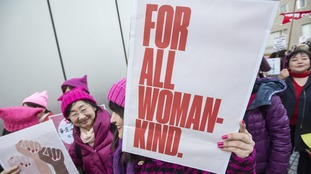 Women in Tokyo, Japan, take to the streets to mark the day