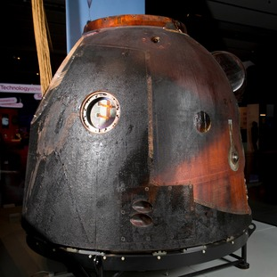 The Soyuz TMA-19M spacecraft which took Tim Peake into space