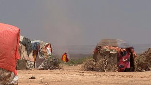 Makeshift camps line Somaliland's barren countryside