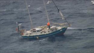 Stricken yacht