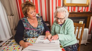 Ursula's carer Lesley is helping her learn