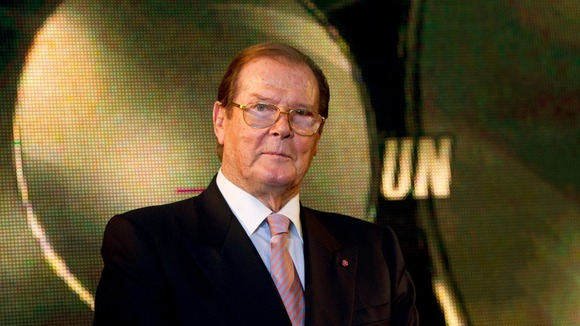 Sir Roger Moore played the British secret agent between 1973 and 1985.