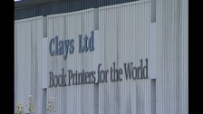Jobs are under threat at Clays Book printers in Suffolk