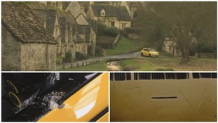 Owner speaks out after his 'ugly' yellow car vandalised in picturesque village