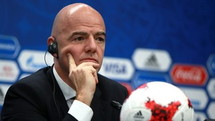 Fifa president Gianni Infantino said the bid restrictions for the 2026 World Cup were still being finalised.