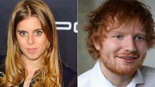 Princess Beatrice did not cut Sheeran, Blunt has said