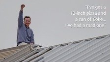 Horner on top of the prison roof