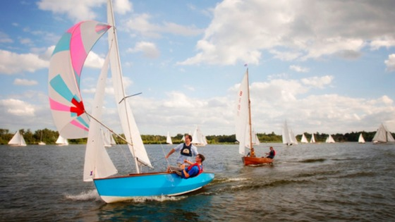 Dinghy sailing on the Broads