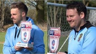 Matty Godden (left) and Darren Sarll (right) both picked up awards.