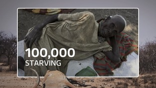 At least 100,000 are already starving.