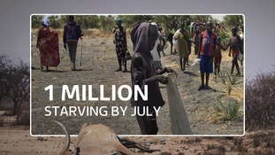 More than one million will be starving by the summer.
