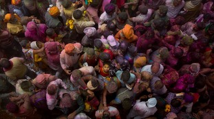 Holi festival celebrations in India