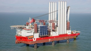 Sussex offshore wind farm begins to take shape