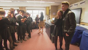 The Voice star Jamie Miller performs for pupils at his former school