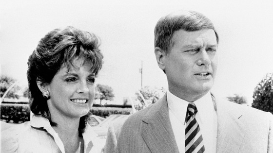 Larry Hagman with Linda Gray