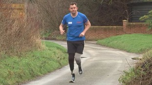 Double amputee Duncan Slater is training for the Marathon des Sables.
