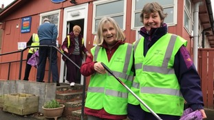 Volunteers taking part in the 'Big Tidy Up' campaign