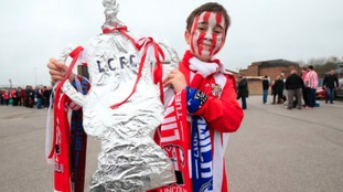 Lincoln City fan Michael Belshaw before departing from Sincil Bank in Lincoln for the Emirates FA…