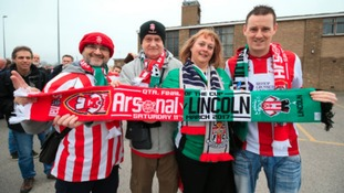 Lincoln City fans ready to cheer on their team