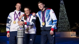 Olympic heros start Christmas celebrations