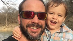 Father found dead in Texas lake four days after going missing during fishing trip with two-year-old son